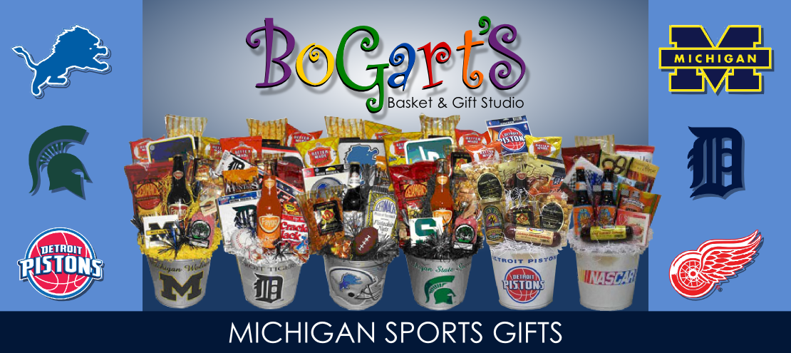 bogarts gifts michigan sports gift baskets